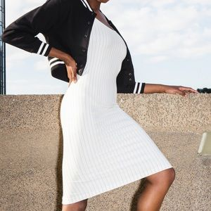 American Apparel Dress with pin stripes